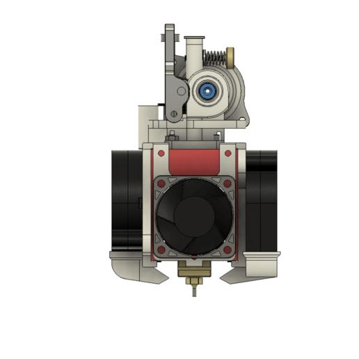 FrontView.png Télécharger fichier STL gratuit Formbot Troodon Orbiter Direct Drive Extruder (DDE) Part 1/2 • Design pour impression 3D, ja11en