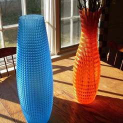Download free 3D printer designs Tall Faceted Vases, billbo1958