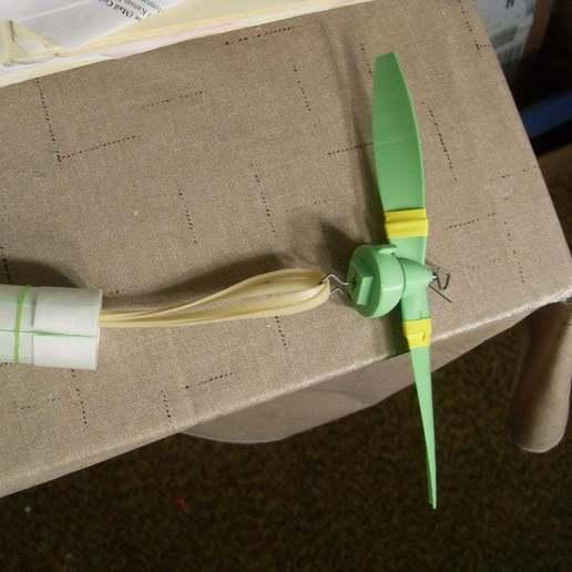 Propeller_hooked_to_motor.JPG Download free STL file Flyer Mk. 1 • 3D printing object, billbo1958