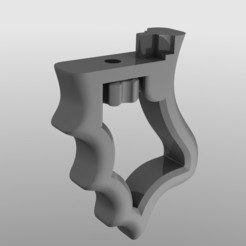 grip_render.jpg Download free STL file Action camera pistol grip for Sony FDR-X3000 • 3D printer object, KaziToad
