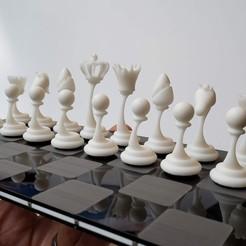 chess set.jpg Download STL file Modern Chess Set (high-res, SLA, whole set) • 3D printer design, KaziToad