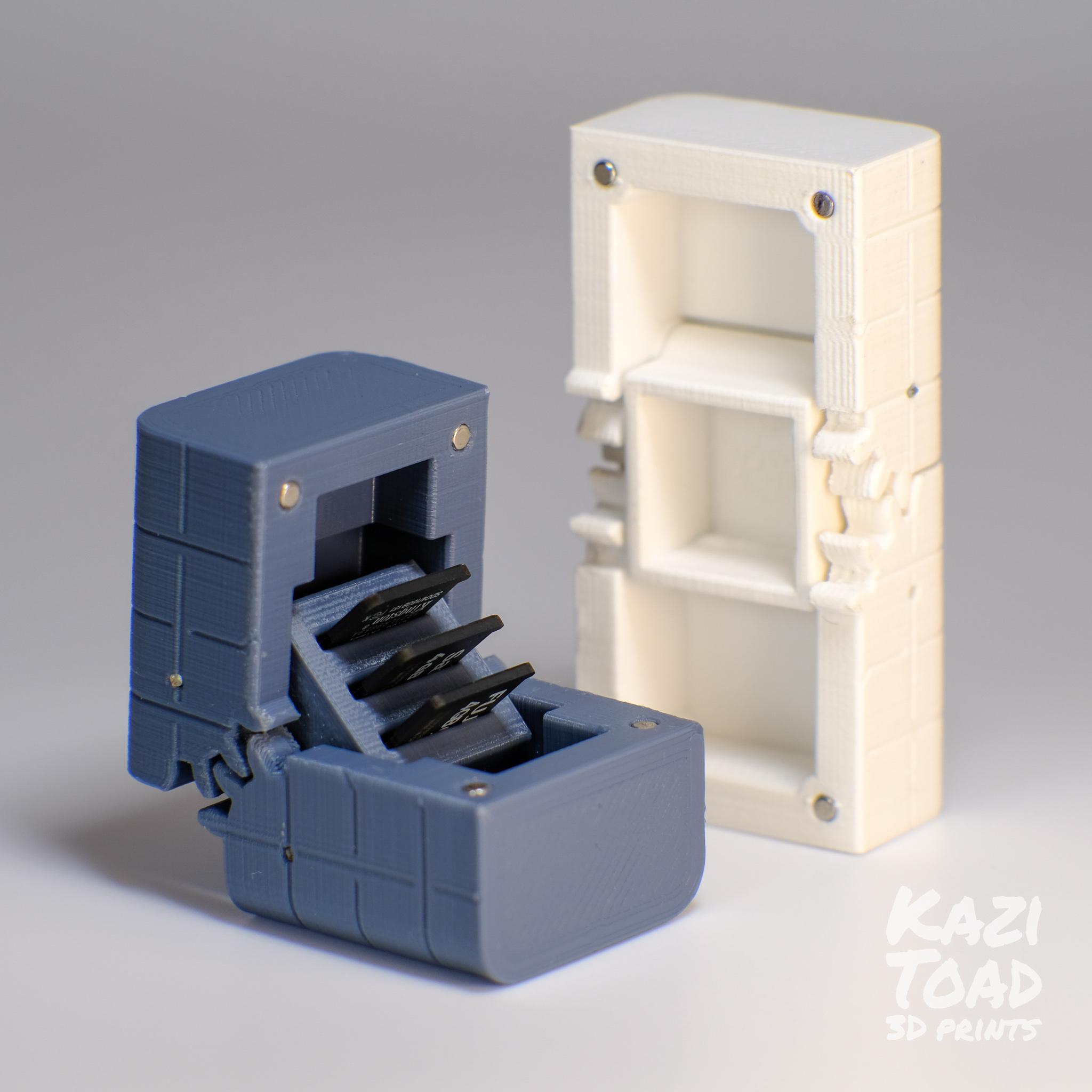 both.jpg Télécharger fichier STL Etuis à microprocesseur : pour les cartes micro SD et autres petits objets • Design imprimable en 3D, KaziToad