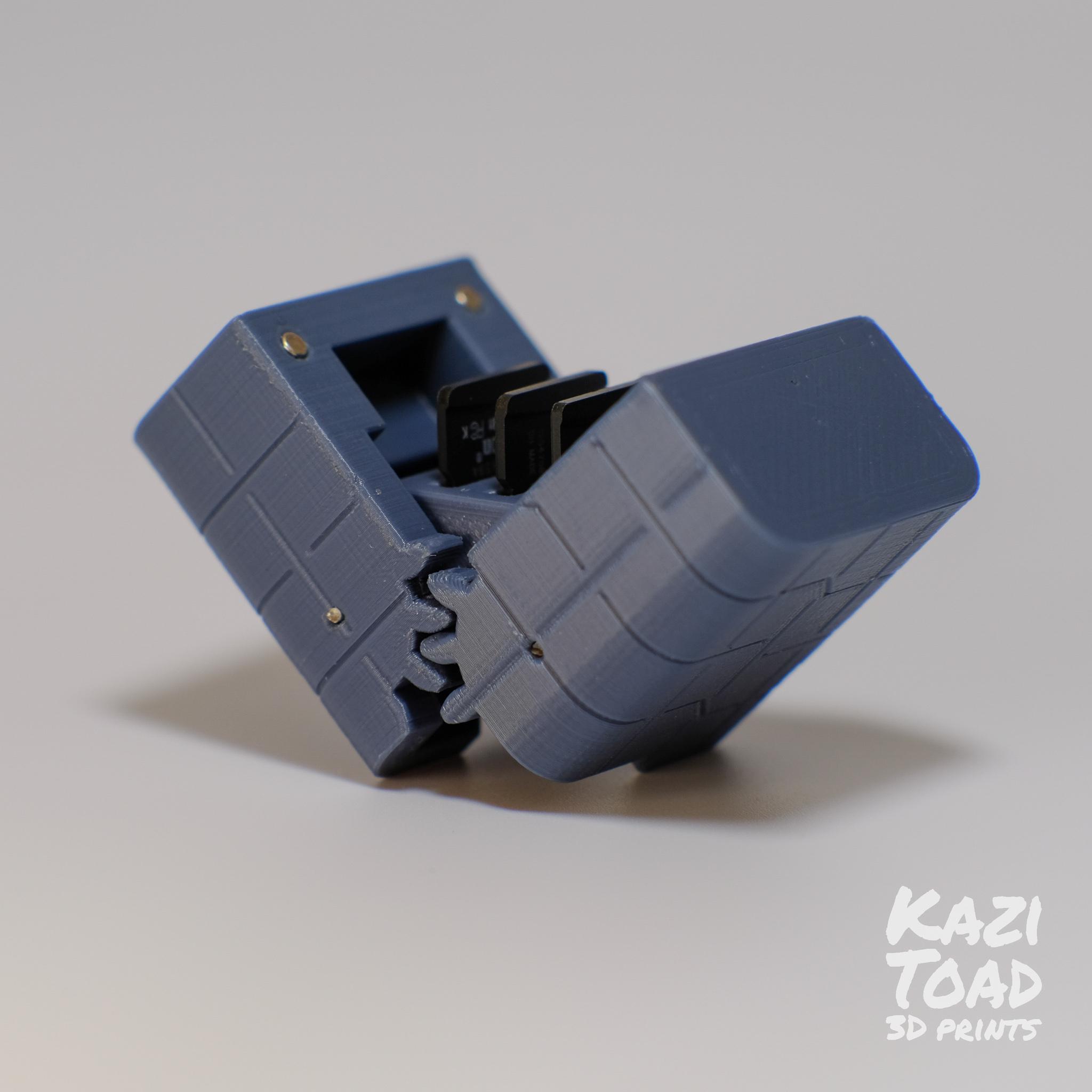 sd2.jpg Télécharger fichier STL Etuis à microprocesseur : pour les cartes micro SD et autres petits objets • Design imprimable en 3D, KaziToad