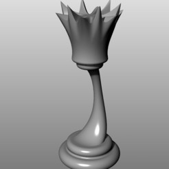 Download free 3D printer designs Modern Chess Set (low-res): Queen, KaziToad