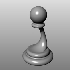Descargar STL gratis Juego de ajedrez moderno (en baja resolución): Peón, KaziToad