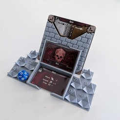 IMG_20200302_144543.jpg Download free STL file Gloomhaven Monster Stats and Damage Holder - d20 • 3D printer design, ismaan