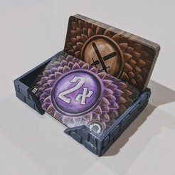IMG_20200303_200237.jpg Download free STL file Compact Gloomhaven Attack Modifier Deck Tray • 3D printing object, ismaan