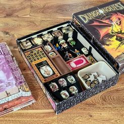 pic5550352.jpg Download free STL file DungeonQuest Board Game Box Insert • 3D print template, ismaan
