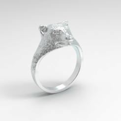 Signet Ring Bear.2.png Download STL file Signet Ring Bear • 3D print model, SkyNet33