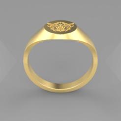 Arcanum.png Download STL file Arcanium Signet Ring • 3D printable object, SkyNet33