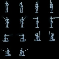 Brit_Inf_Light_Box.jpg Download STL file British Rangers Box – Seven Years War – French Indian Wars • Object to 3D print, Lukas_Fischer