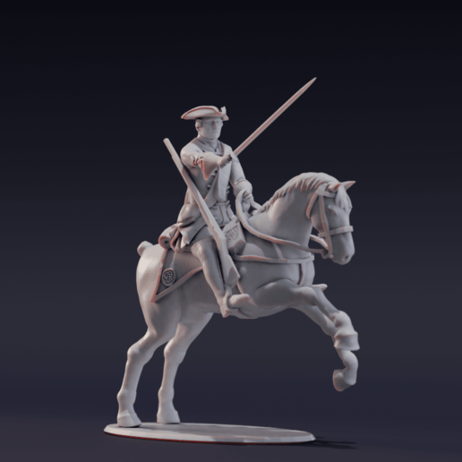 Brit_Dragoons_AttackJump_C_Render.png Download free STL file Free British Dragoon – Seven Years War – French Indian Wars • 3D print model, Lukas_Fischer