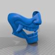 HalfMaskHoles.png Download free STL file Blue Spirit Mempo • 3D printer model, aandw92