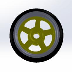 2.png Télécharger fichier STL Jantes de Hotwheels à l'échelle 1:64 • Design pour imprimante 3D, leoriv9506
