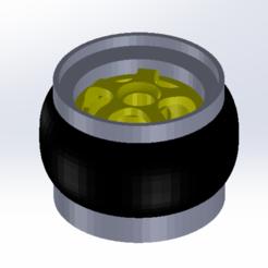 1.png Télécharger fichier STL Jante des roues chaudes à l'échelle 1:64 • Objet pour imprimante 3D, leoriv9506