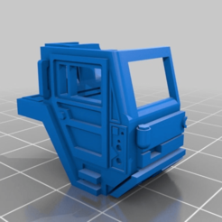 Download free 3D printing templates Half of 1/87 truck cab, NJD13