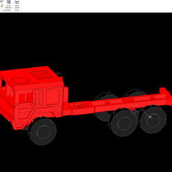 Download free 3D printing files 1/87 6x6 Truck, NJD13