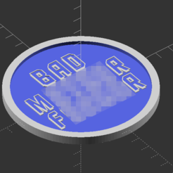 BMF_Preview.png Download free STL file Pulp Fiction BMF Drink Coaster • Object to 3D print, trg3dp