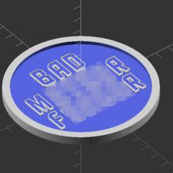 Télécharger modèle 3D gratuit Pulp Fiction BMF Drink Coaster, trg3dp