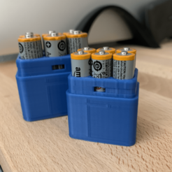 Screen Shot 2020-03-02 at 1.58.39 PM.png Download free STL file Battery Storage for 6 AAA • 3D print model, trg3dp