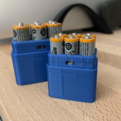 Télécharger STL gratuit Stockage de piles pour 6 AAA, trg3dp