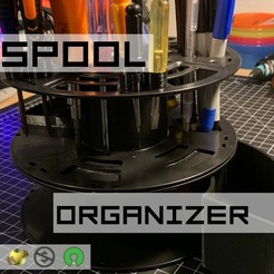 _ULTIMATE_SPOOL_TOOL_ORGANIZER.jpg Download free SCAD file Ultimate Spool Tool Organizer • 3D printing object, trg3dp