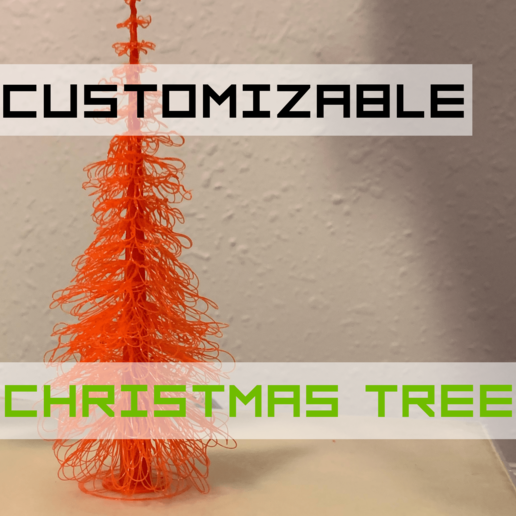 Download free SCAD file Customizable Christmas Tree • 3D printing template, trg3dp