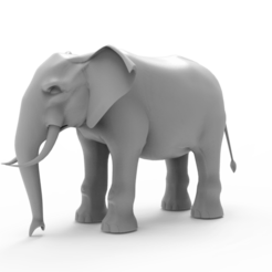 untitled.234.png Download free OBJ file Elephant • 3D printing object, vaibhav210singh