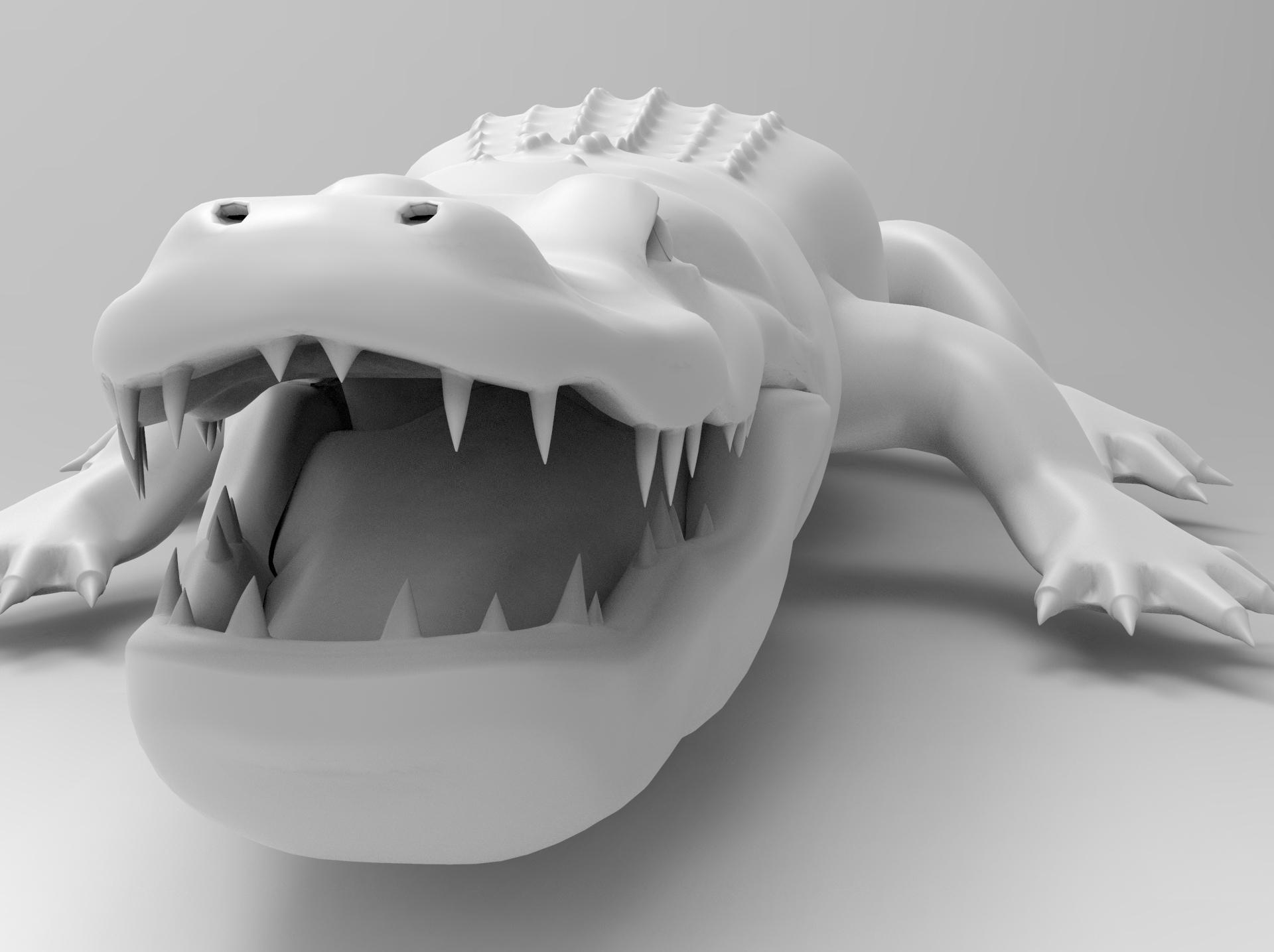 untitled.90.jpg Télécharger fichier OBJ gratuit alligator • Objet à imprimer en 3D, vaibhav210singh