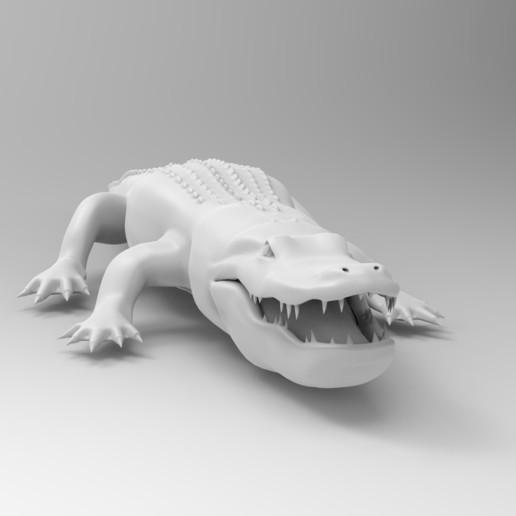 untitled.86.jpg Télécharger fichier OBJ gratuit alligator • Objet à imprimer en 3D, vaibhav210singh
