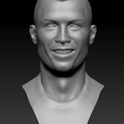 Download free OBJ file Ronaldo bust • 3D printing object, vaibhav210singh