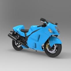 Télécharger fichier OBJ gratuit Suzuki GSX1300R Hayabusa • Modèle pour imprimante 3D, vaibhav210singh