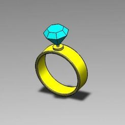 Download free 3D printer model Diamond ring, adampolak1994