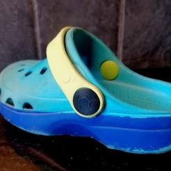 Descargar diseños 3D gratis Remaches para niños Crocs (o similares), reparación de bricolaje, Matteeee