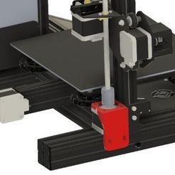 Imprimir en 3D gratis Montura ajustable del motor Z para el Ender 3 (también Pro) - versión M3, Matteeee