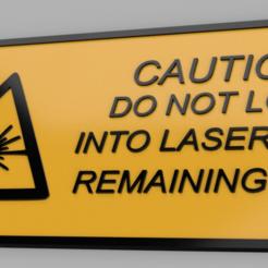 laser.PNG Download STL file Laser warning sign • 3D printable object, Matteeee