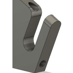 Untitle123d.png Download free STL file Longboard Hanger V2 • 3D printing object, RollinBart