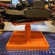 Imprimir en 3D gratis Soporte de coche RC ajustable con estación de choque., razvanbrates