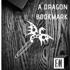 DRAGON_1.png Download free STL file Spotted Dragon Bookmark • 3D printable design, ElijahCole11