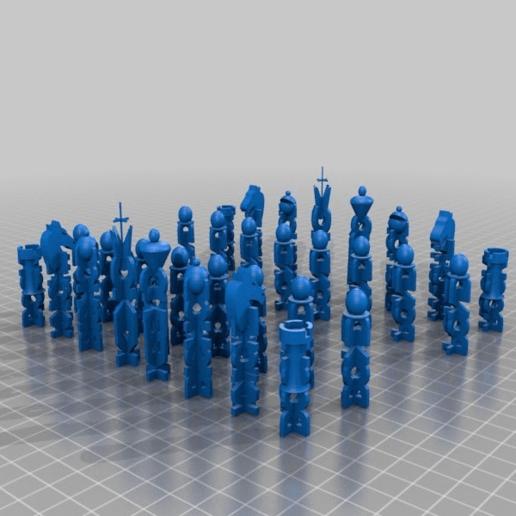 Télécharger fichier STL gratuit Pièces d'échecs en forme de croix • Design imprimable en 3D, ElijahCole11