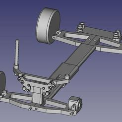 Download free 3D printer designs Kyosho Fazer MK2 Shelf Queen Chassis - Preserve that sweet, sweet body, WrenchToDrive