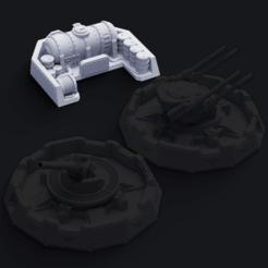 Thingigroundassets.png Download free STL file Royal Air Force Anti-Air Battlements - Fuel Depot • 3D printer template, Pelicram