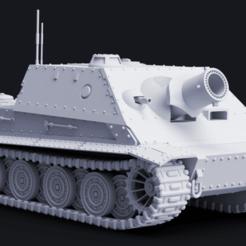 "kitty1.png Download STL file RW-61 ""Siege Kitty"" Mortar Tank • 3D printer design, Hiidenkivi-Design"
