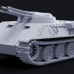 """jaguar1.png Télécharger fichier STL Le char antiaérien """"Jaguar"""" RA-3 • Design à imprimer en 3D, Pelicram"""