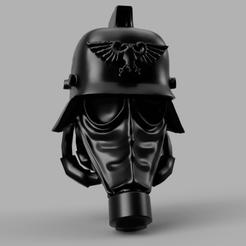 Descargar modelo 3D gratis Cabeza de Caballero Krieg, pelicram