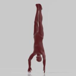 Imprimir en 3D gratis Un humano con piel de 28 mm., pelicram