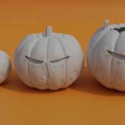 presentacion 1 .png Download STL file Halloween Pumpkin (keychain, container, regular) • 3D print design, el_chozas