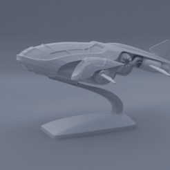 Download free 3D model Combat SpaceShip, el_chozas