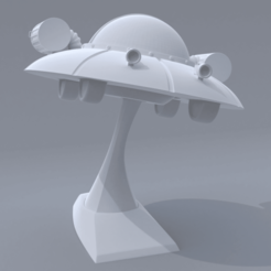 concepto .png Download STL file Rick and Morty Spaceship • 3D printable model, el_chozas