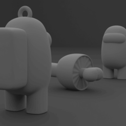 portada e.png Download STL file Among Us Keyring Characters • 3D printing design, el_chozas
